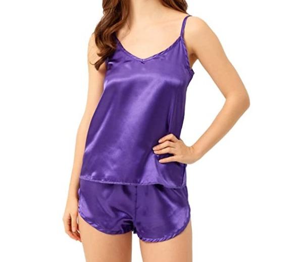Women's Silky Satin Short Pajamas Set As Low As $5.94 Shipped! (Reg. Price $15.99)