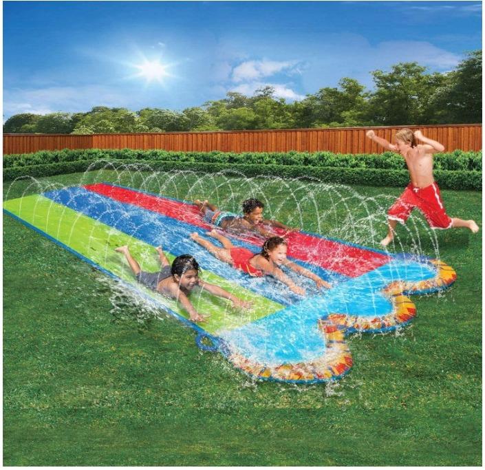 Triple Racer Water 16 Feet Long, Slide for $19.99 Shipped! (Reg. Price $25.99)