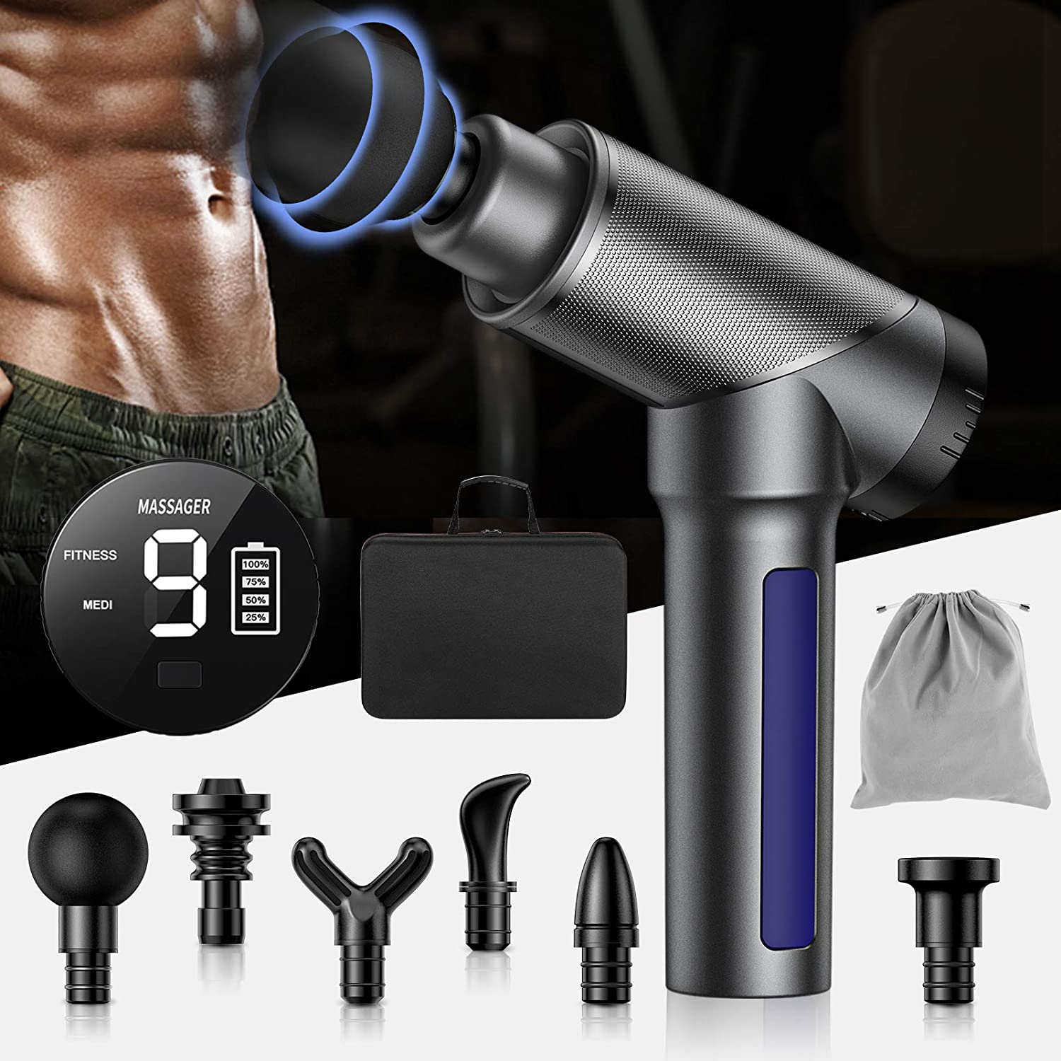 Handheld Muscle Gun Massager for $29.99 Shipped! (Reg.Price $74.98)