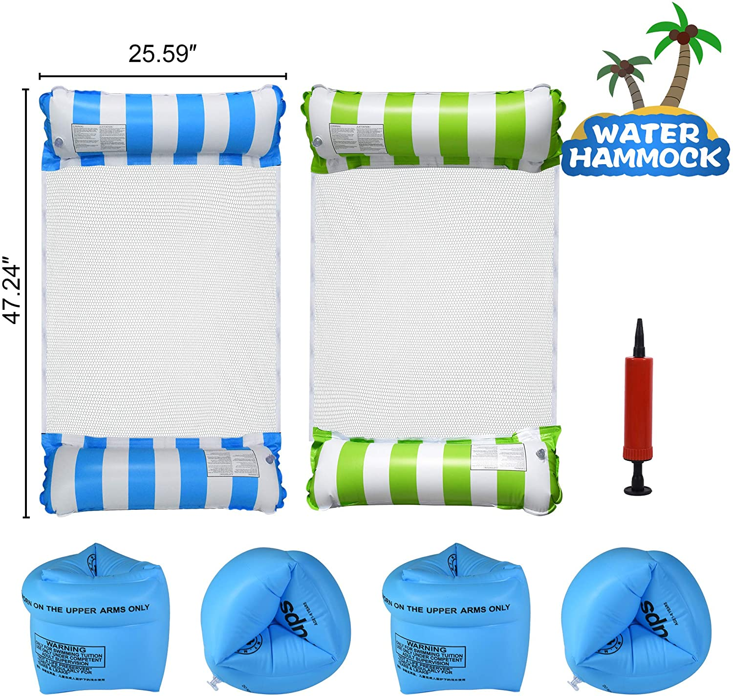 4 Pcs Inflatable Pool Float for $14.98 Shipped! (Reg.Price $29.97)