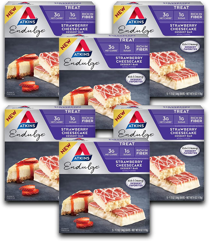 30 Pcs Atkins Endulge Treat Strawberry Cheesecake Dessert Bars for $12.02 Shipped!