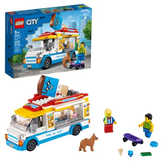 LEGO City Ice-Cream Truck 60253 Building Set for Kids (200 Pieces) for $15.99 + Free Store Pickup! (Reg. Price $19.99)