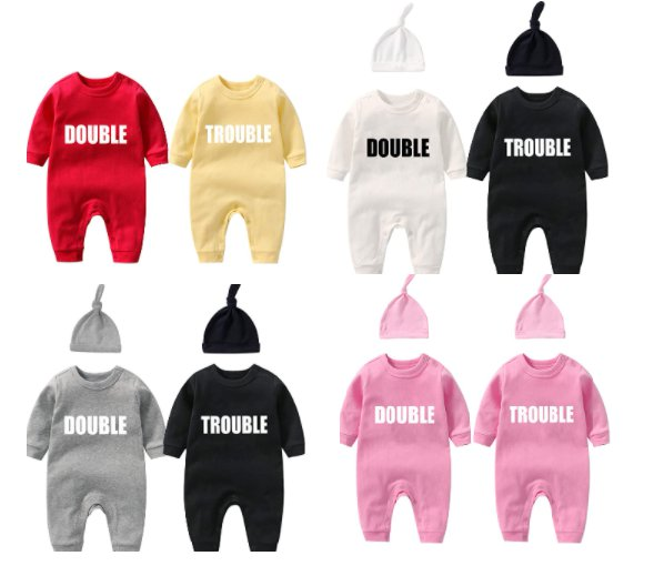 Baby Twins Double Trouble Bodysuits for $9.49-$10.49 Shipped! (Reg. Price $18.99-$20.99)