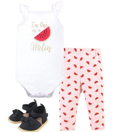 0-18M Baby Bodysuit, Pant and Shoe Set for $5.53-$6.86 Shipped! (Reg. Price $14.99)