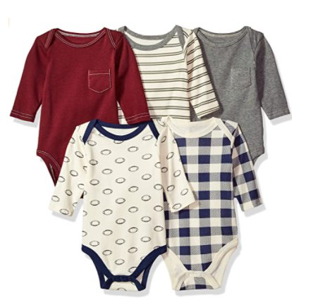5 Pack Hudson Baby Cotton Long-Sleeve Bodysuits for $9.67 Shipped! (Reg. Price $14.99)