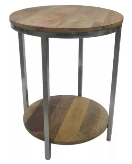 Threshold Berwyn End Table Metal and Wood Brown for $38.50 + Free Shipping! (Reg. Price $70.00)