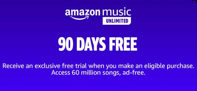 Amazon Music Unlimited 90 Days Free!
