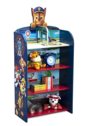 Nick Jr. PAW Patrol Wooden Playhouse 4-Shelf Bookcase for $39.99 + Free Shipping!(Reg. Price $49.99)