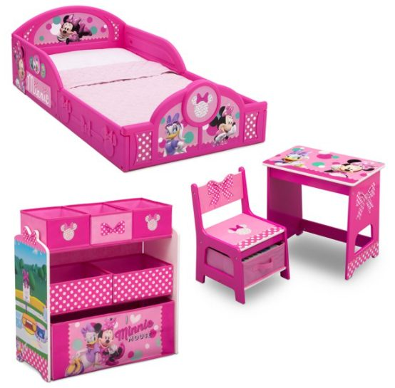 Disney Minnie Mouse 4-Piece Room-in-a-Box Bedroom Set by Delta Children for $99.00 + Free Shipping! (Reg. Price $129.00)