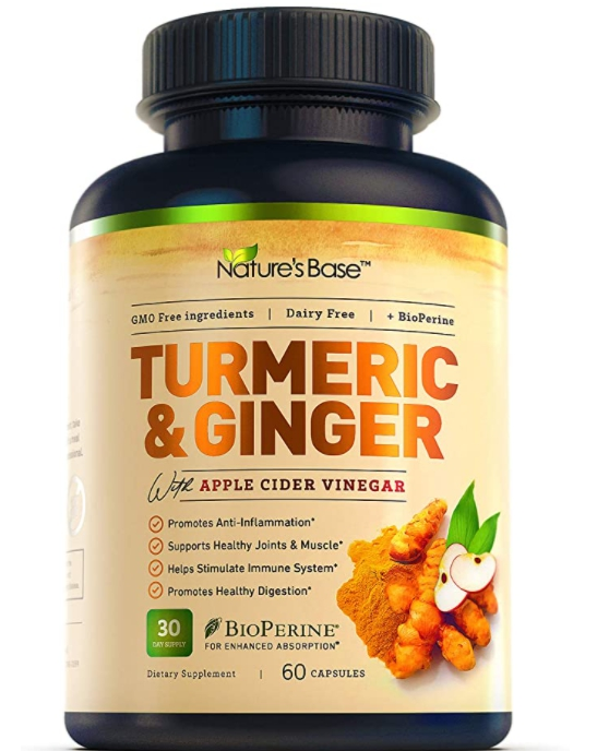 60 Count Nature's Base Turmeric Curcumin with Ginger and Apple Cider Vinegar for $11.38 Shipped! (Reg. Price $34.95)