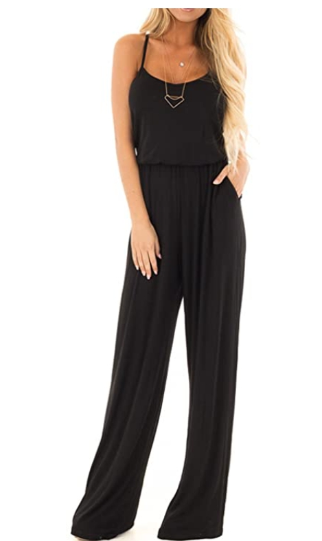 Women's Sleeveless Wide Leg Romper with Pockets for $14.99 Shipped! (Reg. Price $36.00)