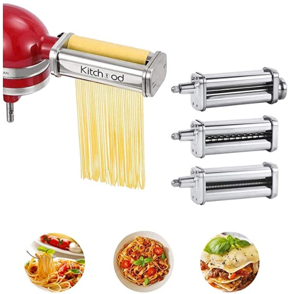 3 Pcs Pasta Attachment for KitchenAid Stand Mixers for $69.98 Shipped! (Reg. Price $99.99)