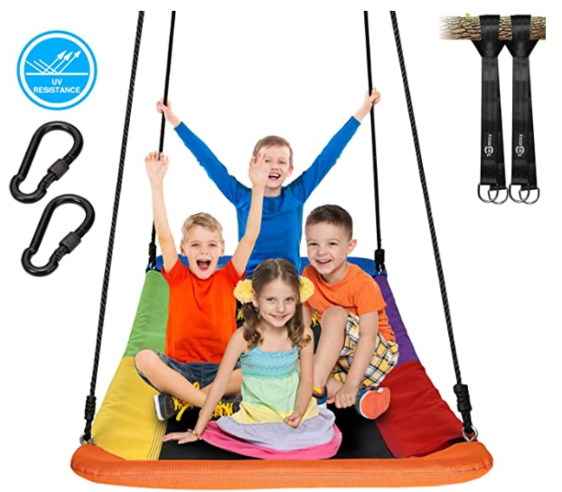 700lb Giant 60″ Tree Swing for Kids with 2 Hanging Straps for $73.49 Shipped! (Reg. Price $129.99)
