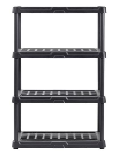 Muscle Rack 36″W x 18″D x 56″H 4-Shelf Resin Shelving for $38.88 + Free Shipping! (Reg. Price $49.99)