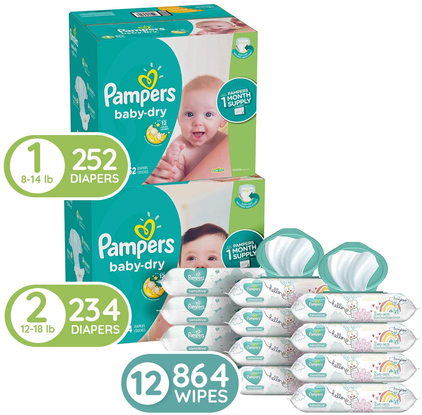 Pampers Baby Diapers and Wipes Starter Kit for $99.33 Shipped! (Reg. Price $132.97)