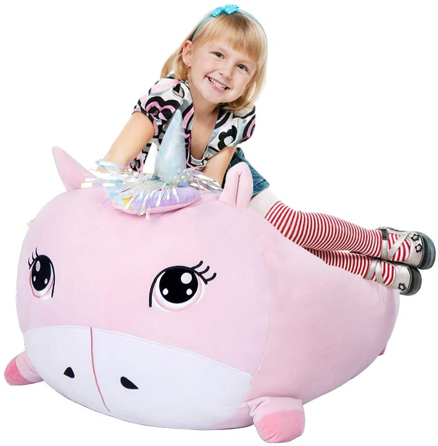 Unicorn Stuffed Animals Storage Bean Bag Chair Cover for $15.48 Shipped! (Reg. Price $30.97)