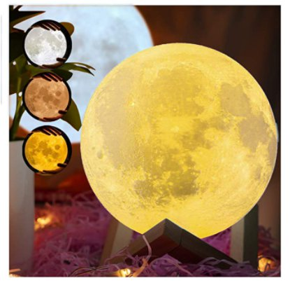 3D Printed Moon Lamp with Stand for $7.99 Shipped! (Reg. Price $19.98)