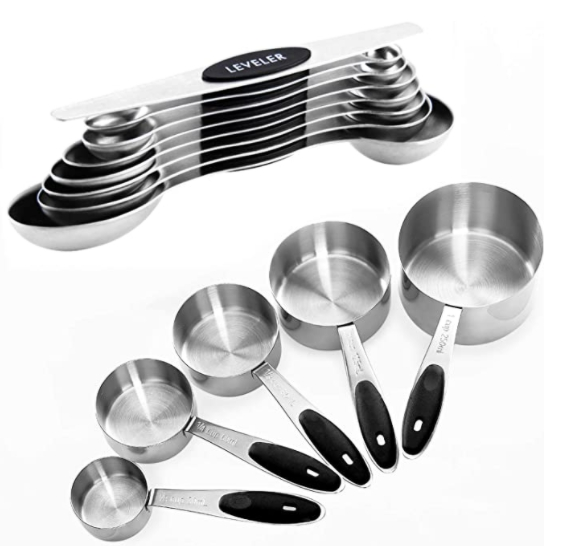 13 Pcs Stainless Steel Measuring Cups and Magnetic Measuring Spoons Set for $19.99 Shipped! (Reg. Price $39.99)