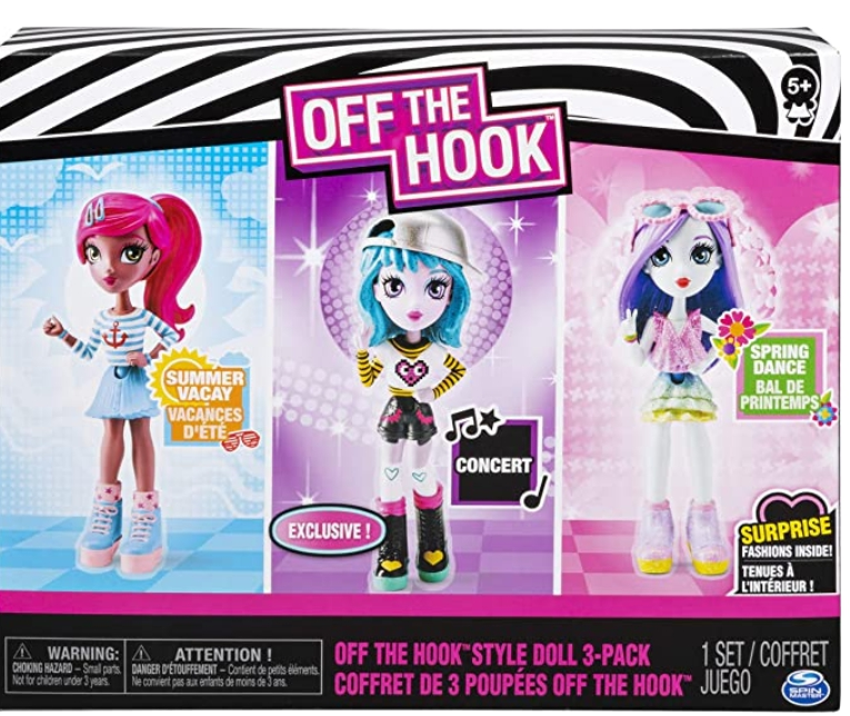 3 Pack Off the Hook Style Doll + Accessories for $9.50 Shipped!